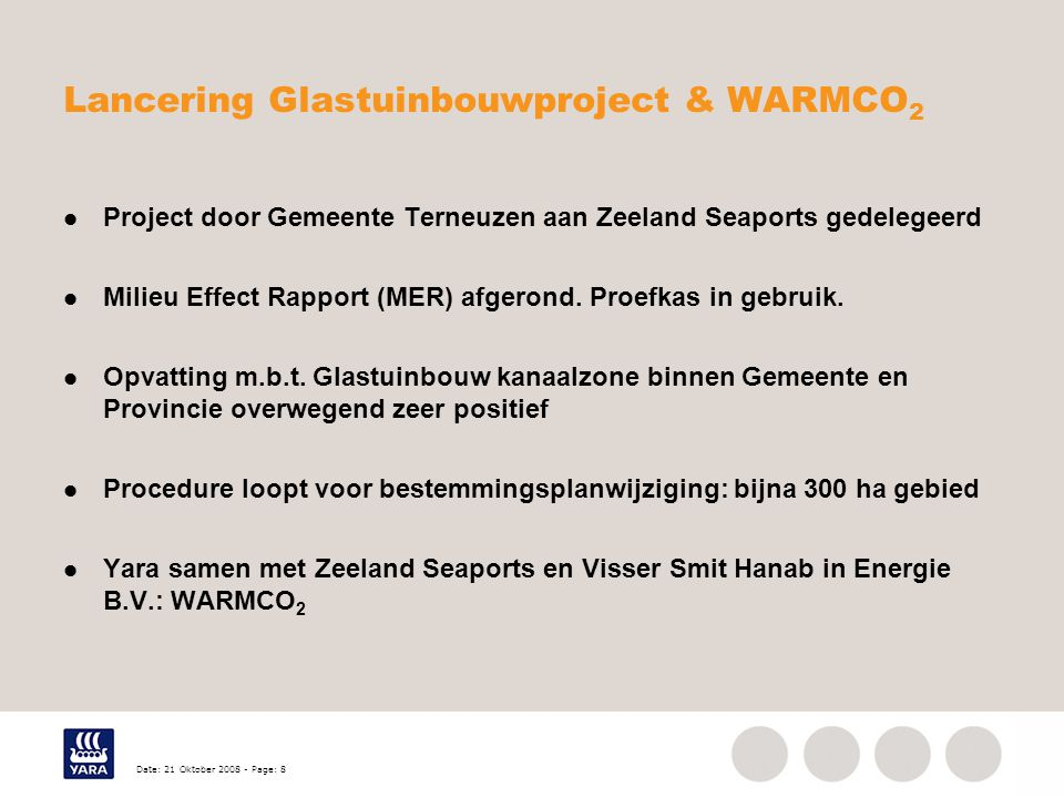Lancering Glastuinbouwproject & WARMCO2