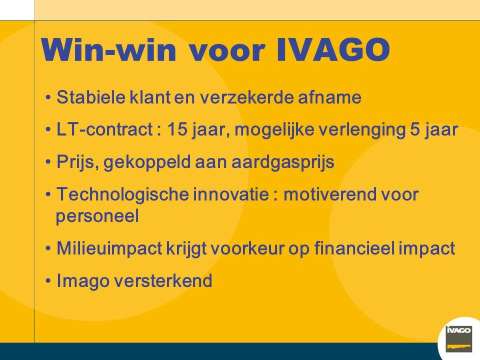 Win-win voor IVAGO Stabiele klant en verzekerde afname