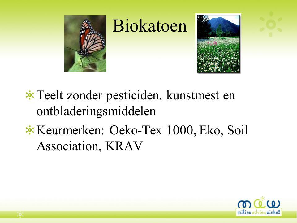Biokatoen Teelt zonder pesticiden, kunstmest en ontbladeringsmiddelen