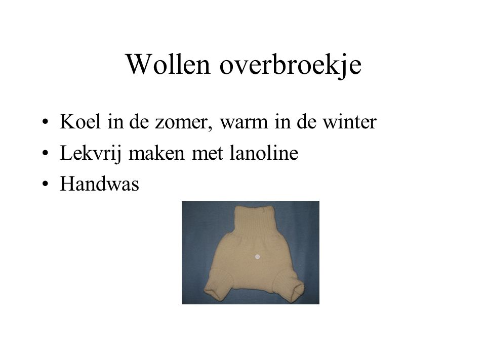 Wollen overbroekje Koel in de zomer, warm in de winter