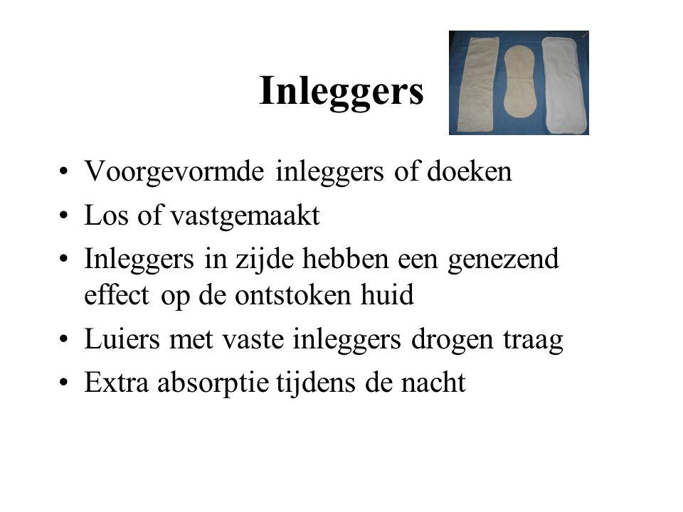 Inleggers Voorgevormde inleggers of doeken Los of vastgemaakt