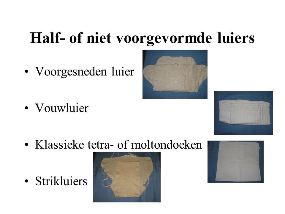 Half- of niet voorgevormde luiers