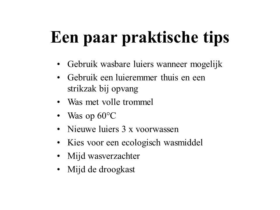 Een paar praktische tips
