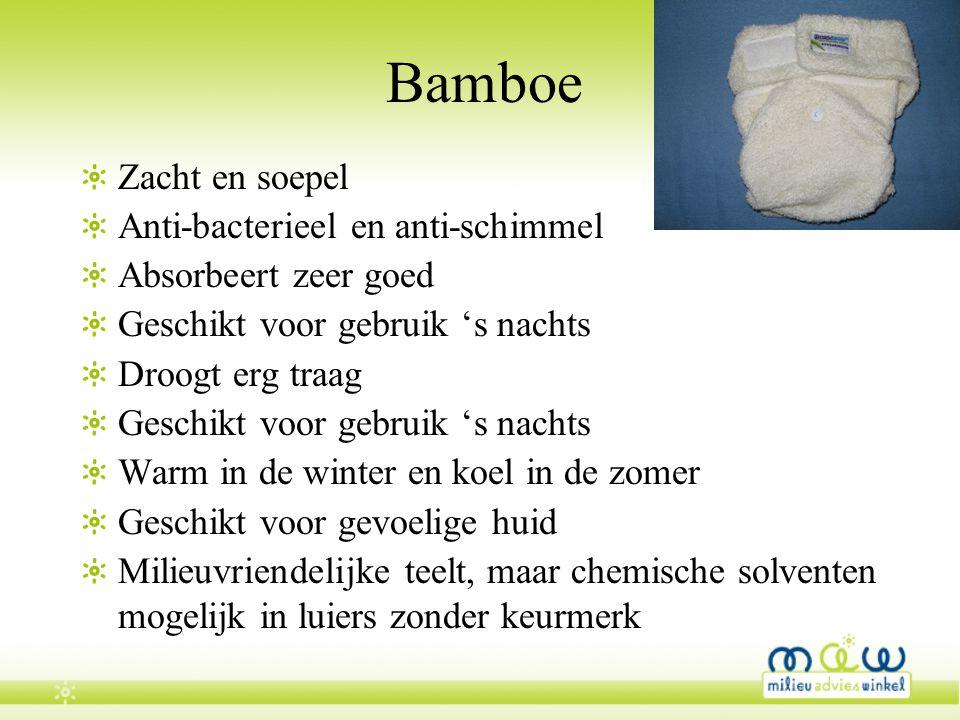 Bamboe Zacht en soepel Anti-bacterieel en anti-schimmel