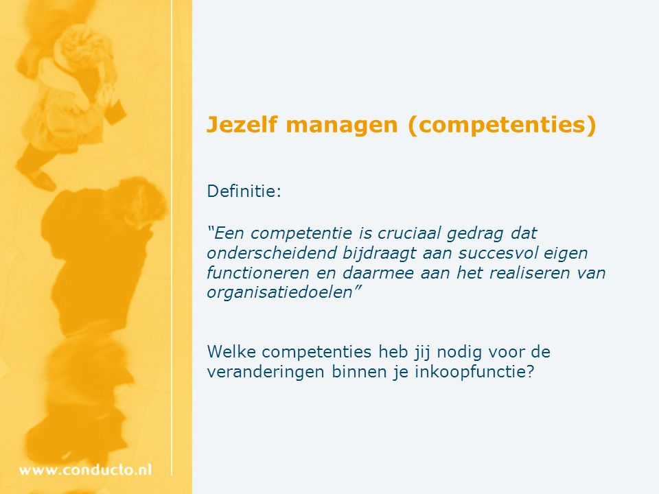 Jezelf managen (competenties)