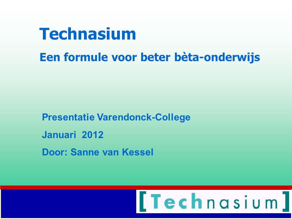 Technasium Een formule voor beter bèta-onderwijs