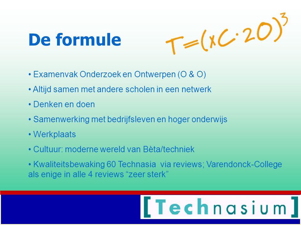 De formule Examenvak Onderzoek en Ontwerpen (O & O)