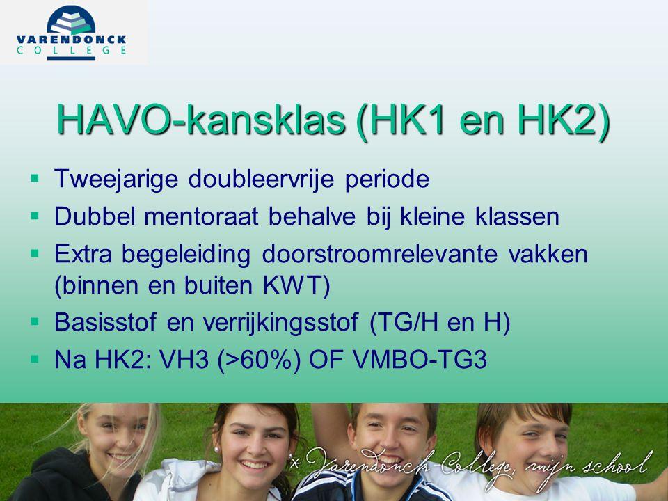 HAVO-kansklas (HK1 en HK2)