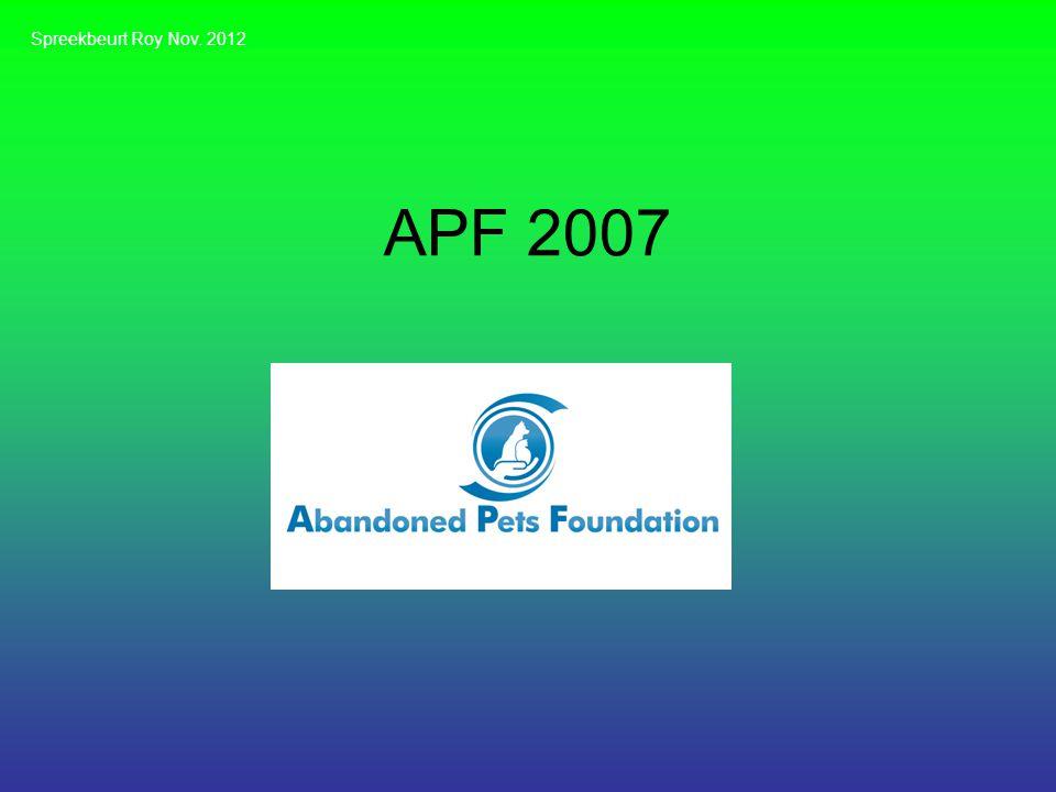 Spreekbeurt Roy Nov. 2012 APF 2007
