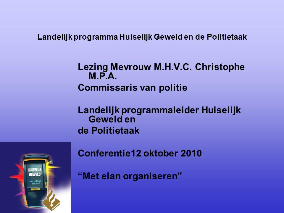 Landelijk programma Huiselijk Geweld en de Politietaak