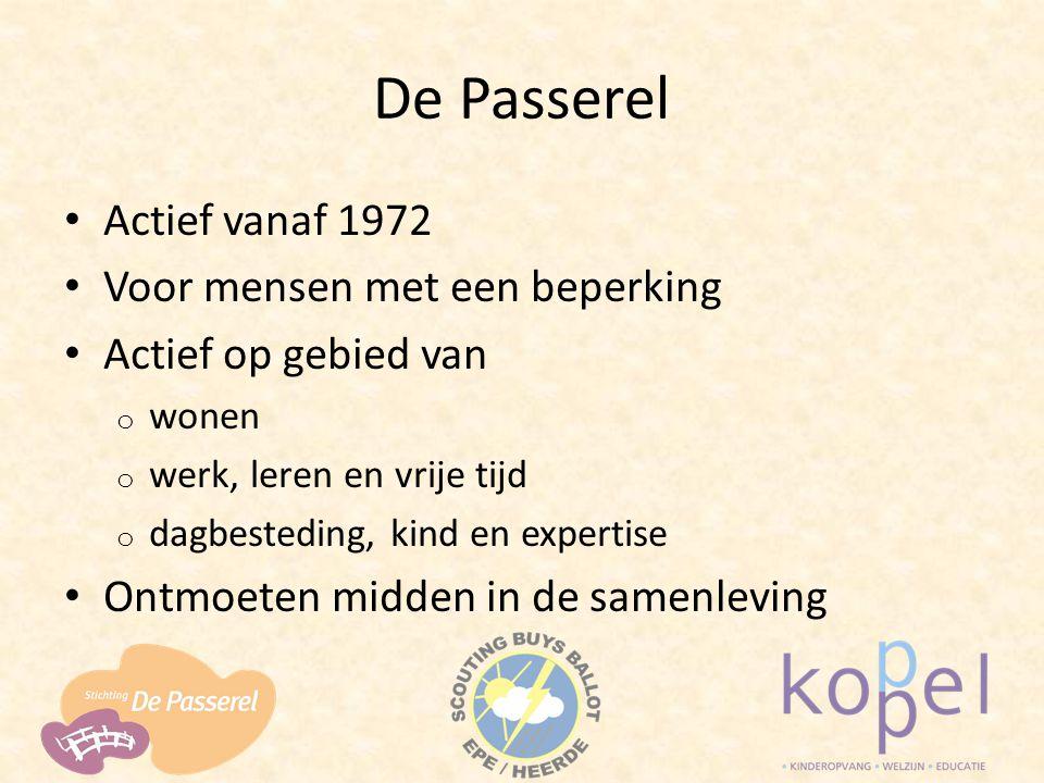 De Passerel Actief vanaf 1972 Voor mensen met een beperking