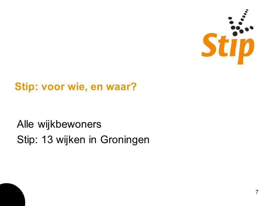 Alle wijkbewoners Stip: 13 wijken in Groningen