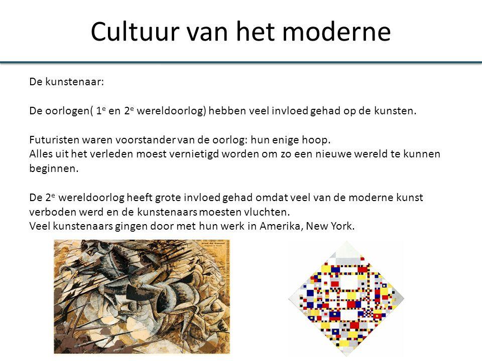 Cultuur van het moderne