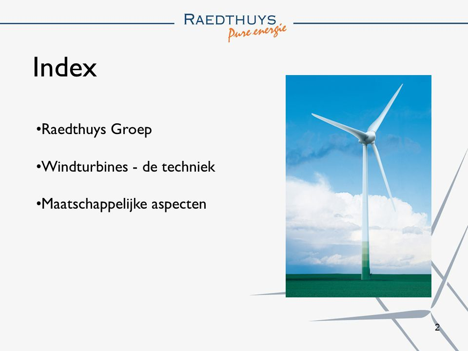 Index Raedthuys Groep Windturbines - de techniek
