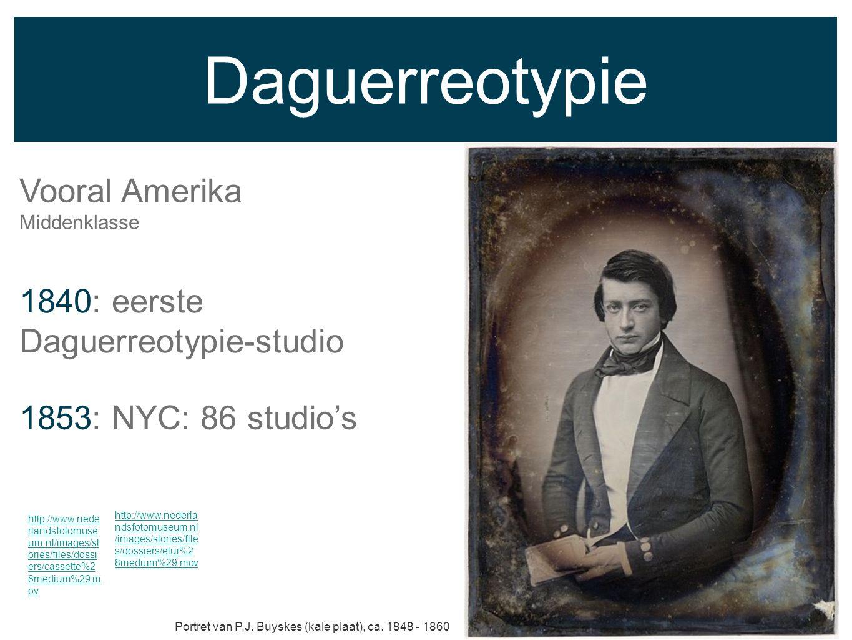 Daguerreotypie Vooral Amerika 1840: eerste Daguerreotypie-studio