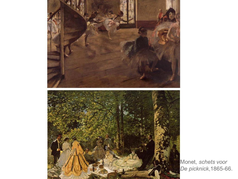 Monet, schets voor De picknick,1865-66.