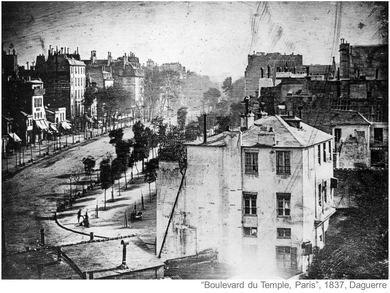 Boulevard du Temple, Paris , 1837, Daguerre