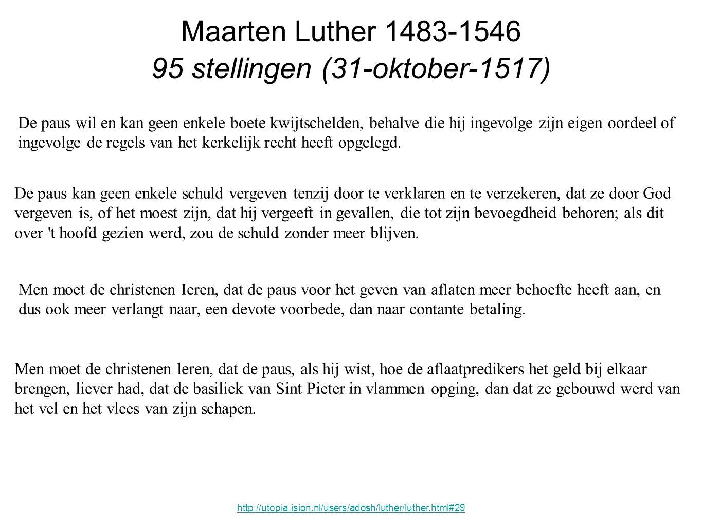 95 stellingen (31-oktober-1517)