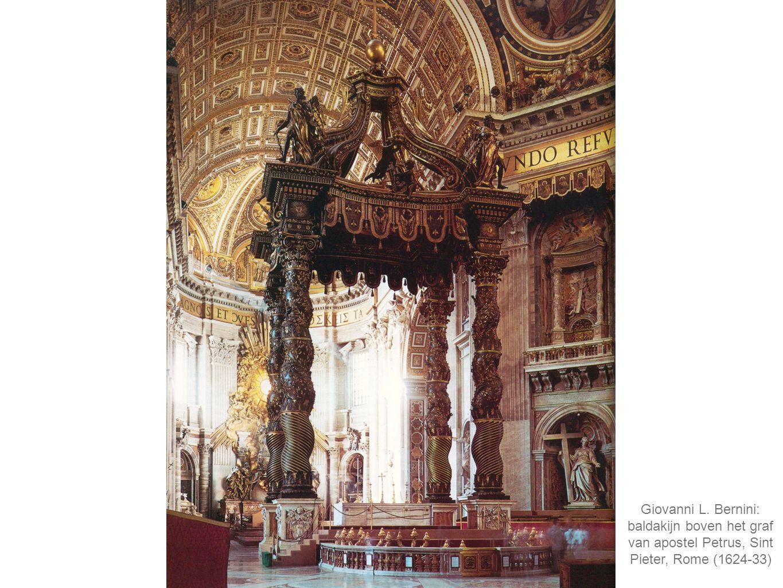 Giovanni L. Bernini: baldakijn boven het graf van apostel Petrus, Sint Pieter, Rome (1624-33)