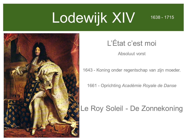 Lodewijk XIV L'État c'est moi Le Roy Soleil - De Zonnekoning