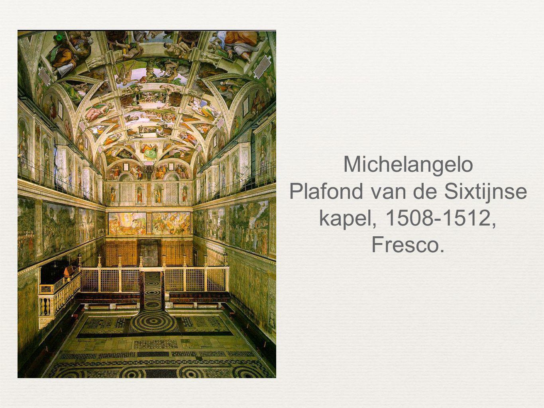 Plafond van de Sixtijnse kapel, 1508-1512, Fresco.