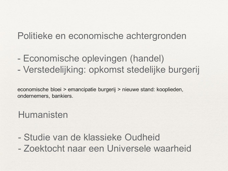 Politieke en economische achtergronden