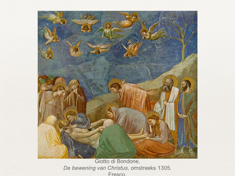 De bewening van Christus, omstreeks 1305. Fresco.