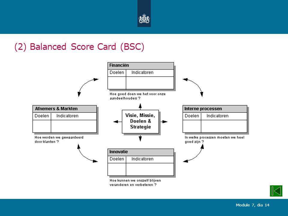 (2) Balanced Score Card (BSC)