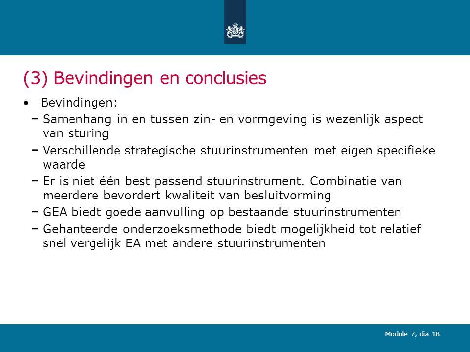 (3) Bevindingen en conclusies