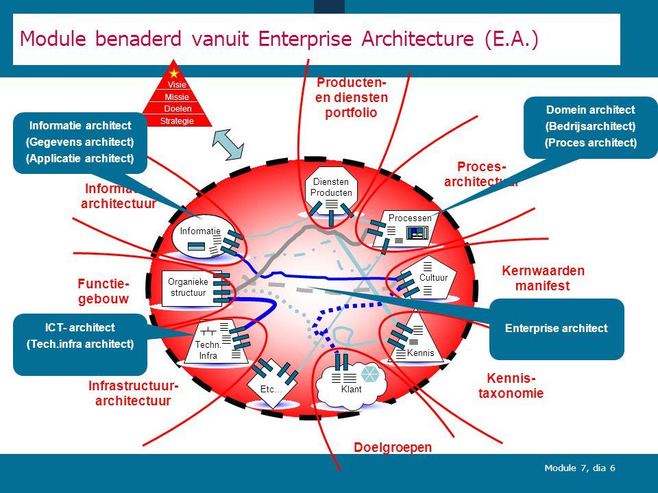 Module benaderd vanuit Enterprise Architecture (E.A.)