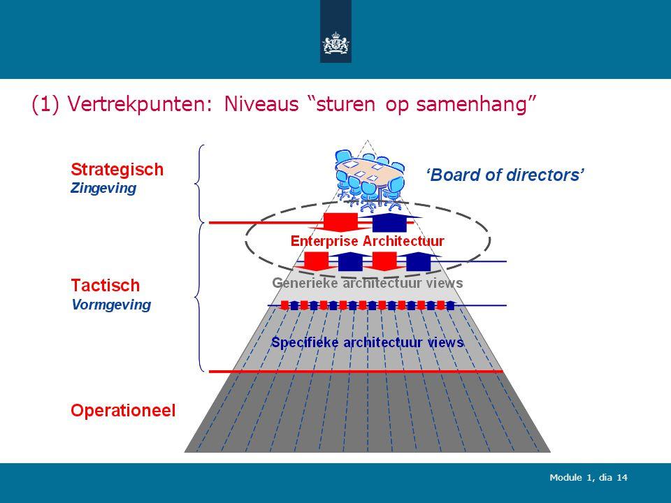 (1) Vertrekpunten: Niveaus sturen op samenhang