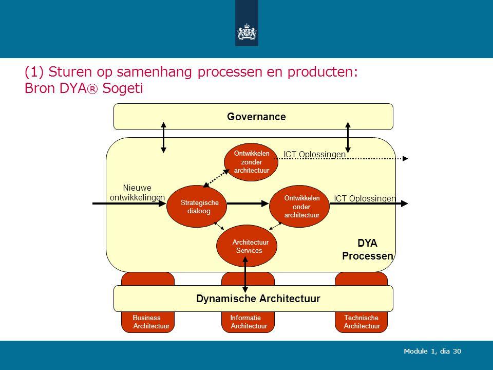(1) Sturen op samenhang processen en producten: Bron DYA® Sogeti