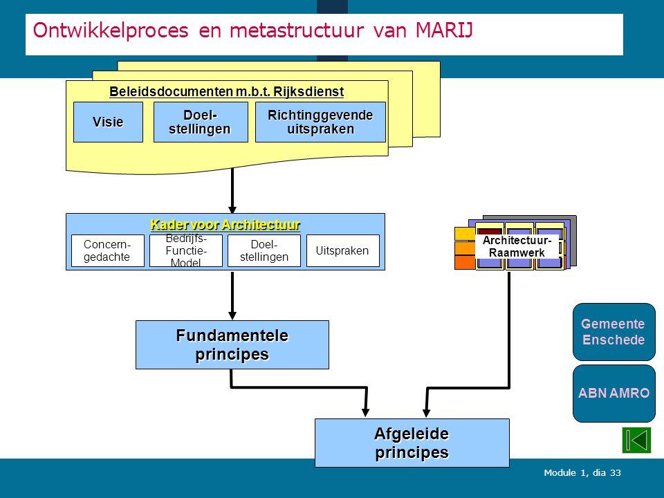 Ontwikkelproces en metastructuur van MARIJ