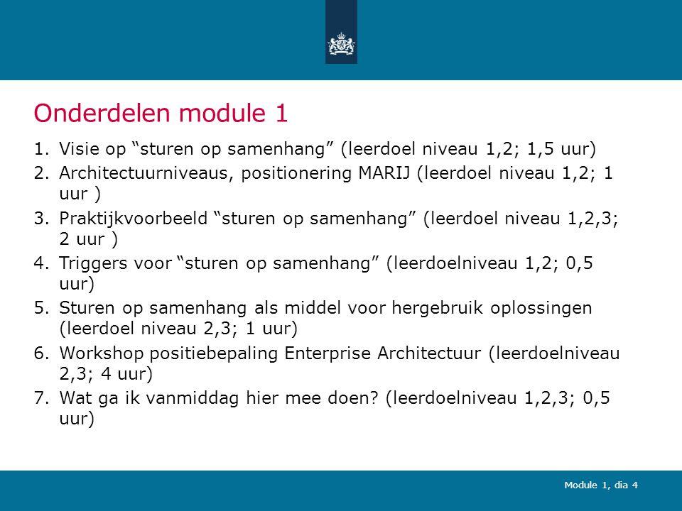 Opleiding MARIJ - module 1 Sturen op samenhang