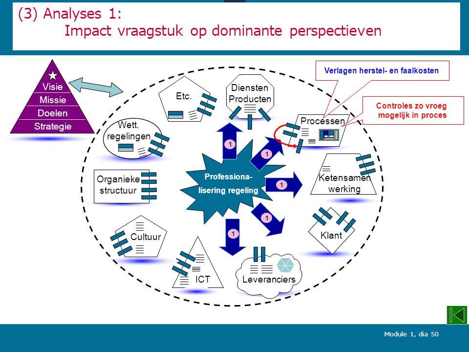 (3) Analyses 1: Impact vraagstuk op dominante perspectieven