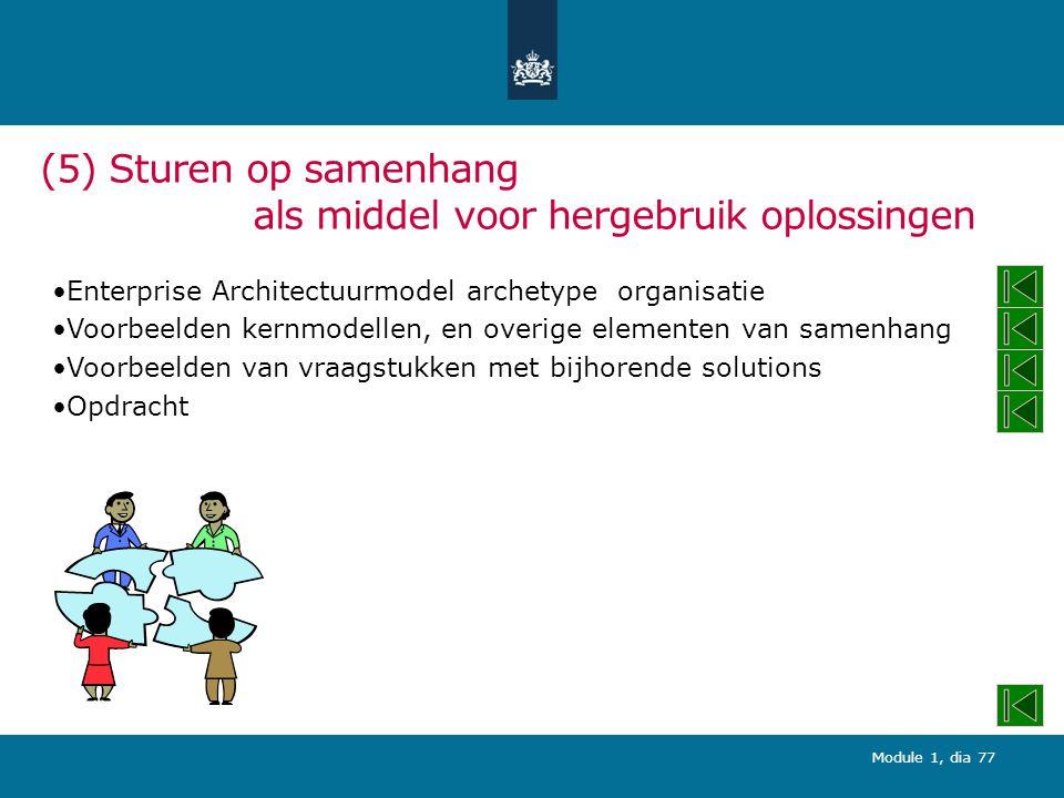 (5) Sturen op samenhang als middel voor hergebruik oplossingen
