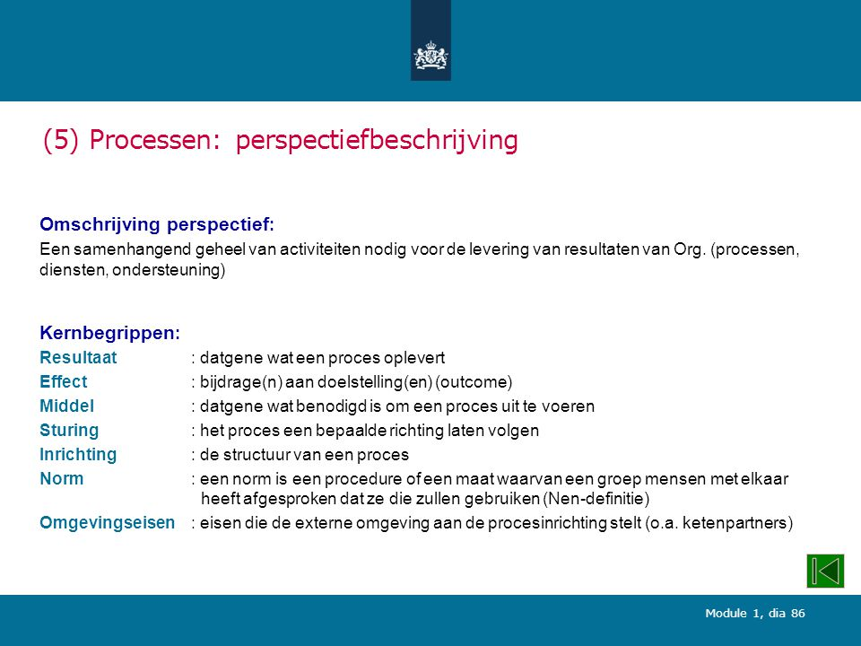 (5) Processen: perspectiefbeschrijving