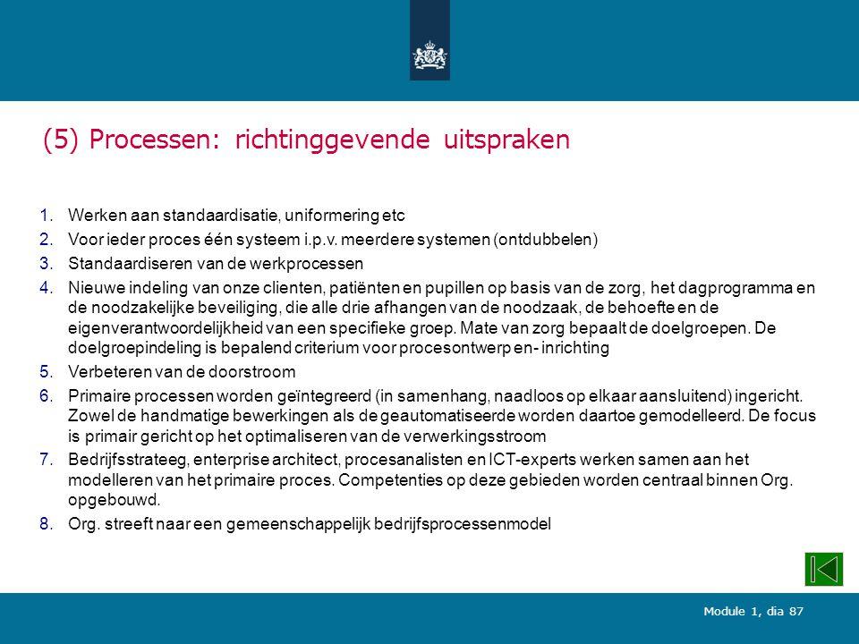 (5) Processen: richtinggevende uitspraken