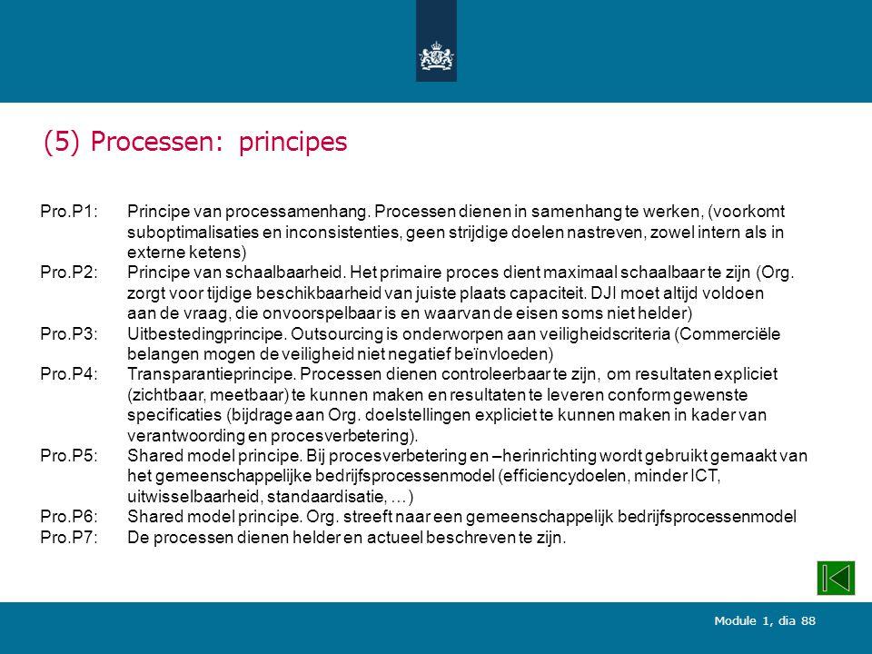 (5) Processen: principes