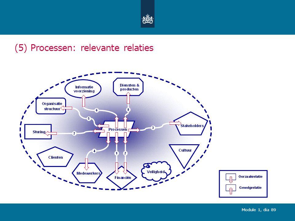 (5) Processen: relevante relaties