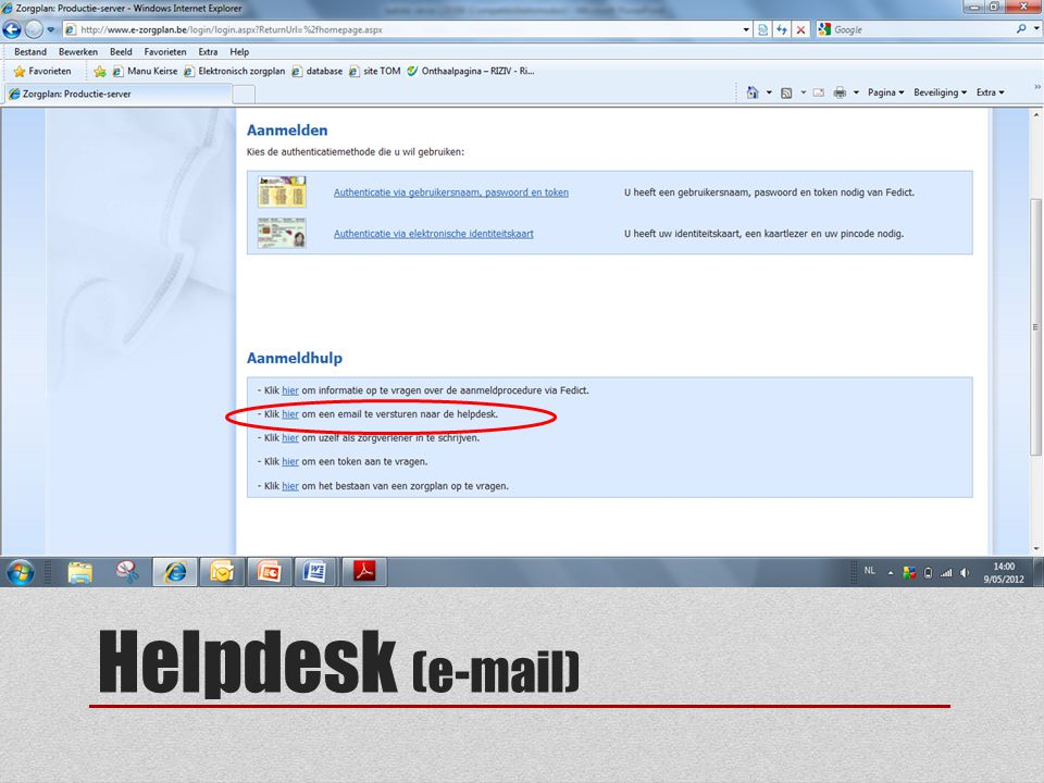 Helpdesk (e-mail)