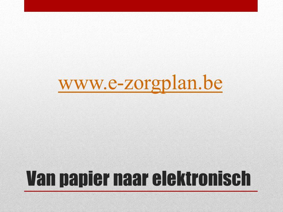 Van papier naar elektronisch