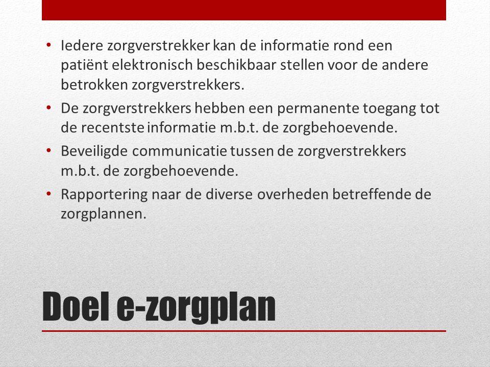 Iedere zorgverstrekker kan de informatie rond een patiënt elektronisch beschikbaar stellen voor de andere betrokken zorgverstrekkers.