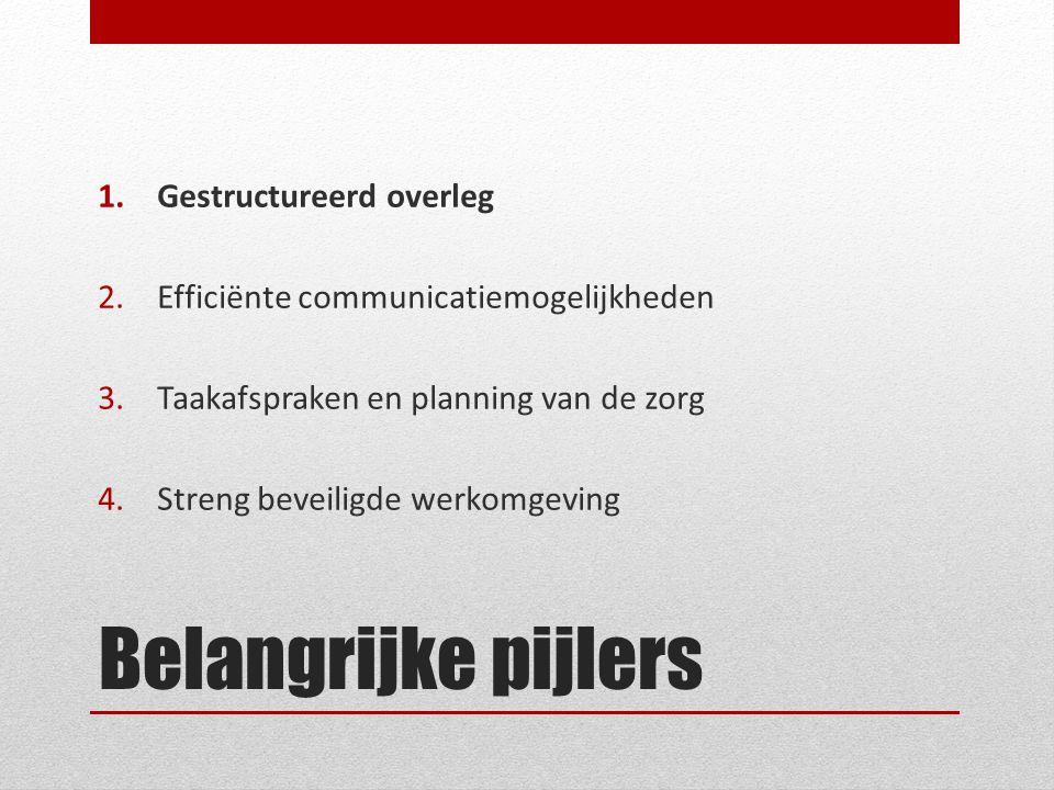 Belangrijke pijlers Gestructureerd overleg