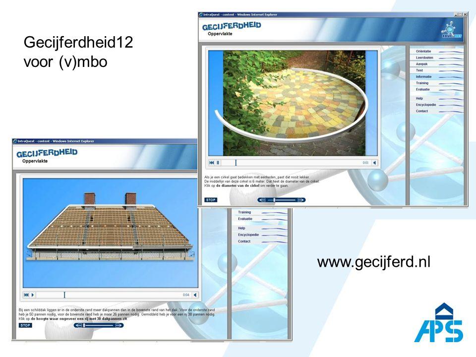 Gecijferdheid12 voor (v)mbo www.gecijferd.nl