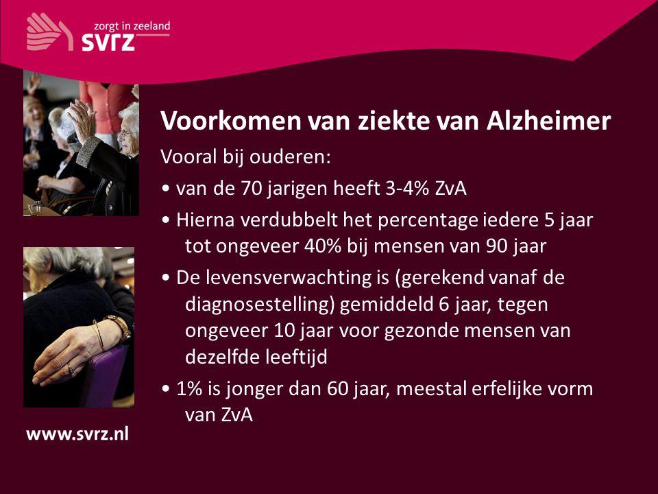 Voorkomen van ziekte van Alzheimer