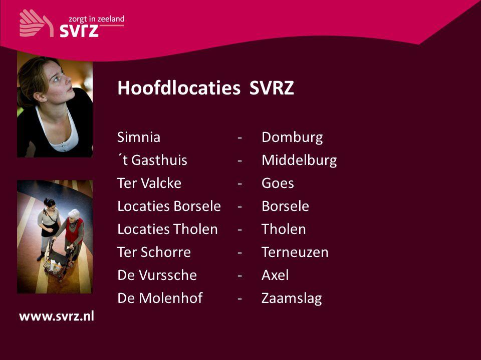 Hoofdlocaties SVRZ Simnia - Domburg ´t Gasthuis - Middelburg