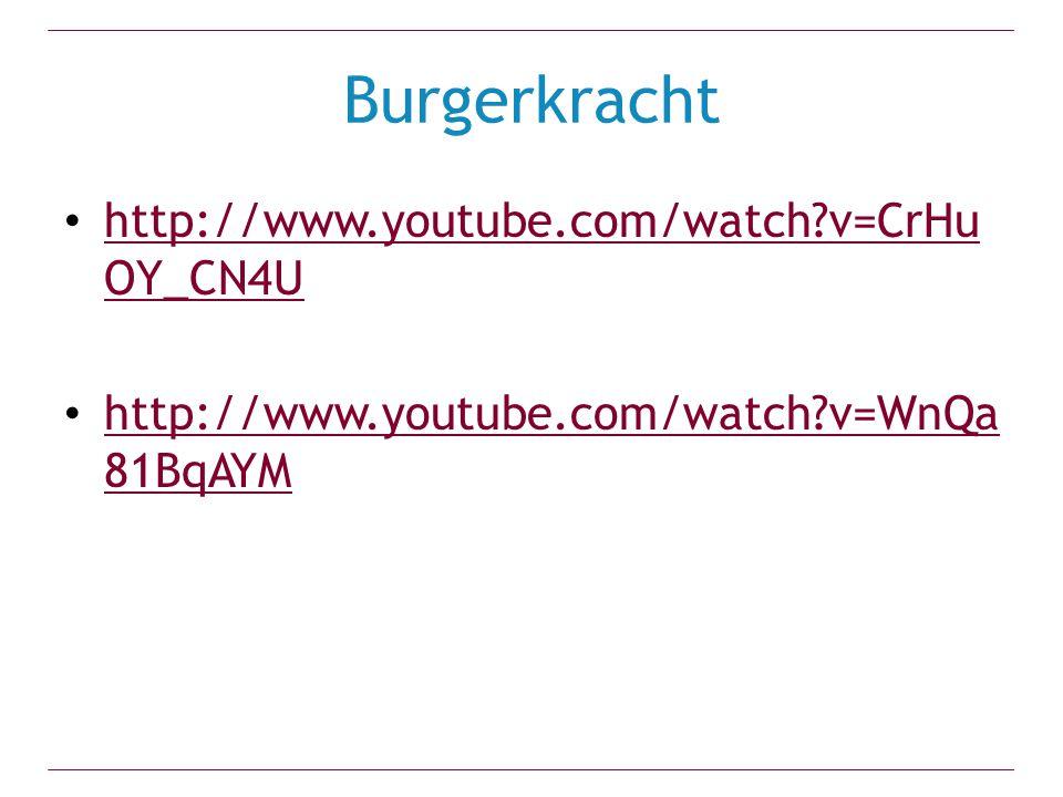 Burgerkracht http://www.youtube.com/watch v=CrHuOY_CN4U