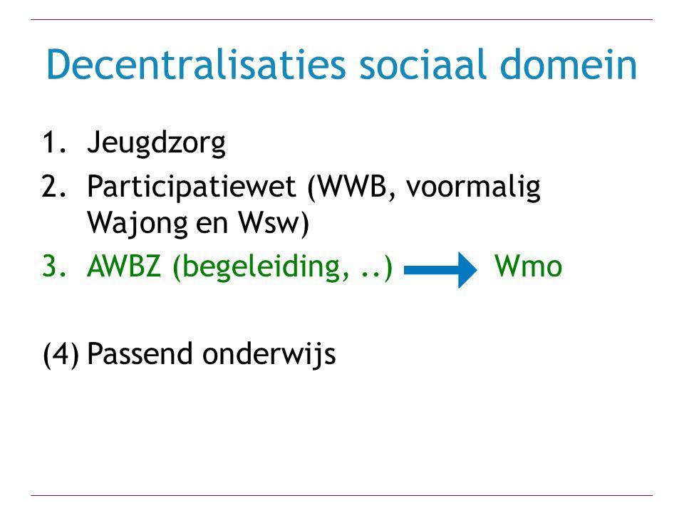 Decentralisaties sociaal domein
