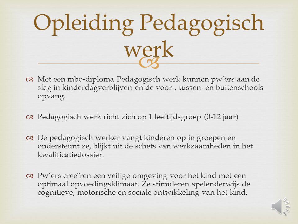 Opleiding Pedagogisch werk